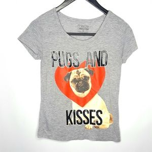 Pugs and Kisses t-shirt Tee Extra Small XS